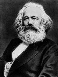 Copy from Photogravure of German Born Political Economist and Socialist Karl Marx Premium fototryk