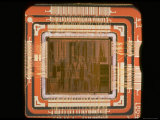 Close Up of the Internal Structure of an Intel Pentium Processor with MMX Technology Fotoprint van Ted Thai