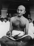 Hindu Nationalist Leader Mohandas Gandhi Reproduction photographique Premium