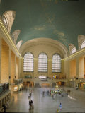 Main Concourse at Grand Central Station in Panorama Before Rededication of Renovated Beaux Art Gem Fotoprint van Ted Thai