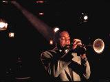 Trumpeter Wynton Marsalis Playing at the Village Vanguard Jazz Club Premium fotoprint van Ted Thai