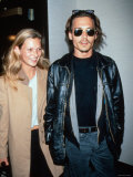 Kate Moss and Johnny Depp Premium fotoprint