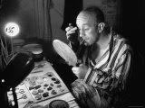 Alec Guiness Putting on Theatrical Make Up at the Stratford Shakespeare Festival Premium Photographic Print by Peter Stackpole