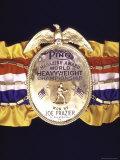 "Boxing Champ Joe Frazier's ""The Ping Magazine Award World Heavyweight Championship"" Medal Photographic Print by John Shearer"