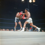 "Cassius Clay, aka Muhammad Ali Throwing Famous ""Phantom Punch"" Premium Photographic Print by George Silk"