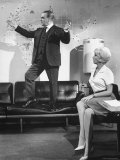 James Cagney and Lilo Pulver in One, Two, Three, a Film Directed by Billy Wilder Premium Photographic Print by Gjon Mili