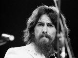 George Harrison Performing at a Rock Concert Benefiting Bangladesh, aka Kampuchea Premium Photographic Print by Bill Ray