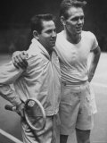 Tennis Players Bobby Riggs and Jack Kramer Posing at Madison Square Garden Premium Photographic Print by Ralph Morse