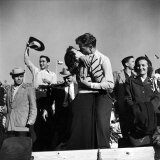 Texas University Students Kissing After a Close Football Victory over Southern Methodist University Photographic Print by Joe Scherschel