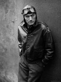 Gregory Peck Costumed as WWII American Air Forces Bomber Pilot for Twelve O'clock High Premium fototryk af W. Eugene Smith