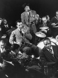 Count Basie, Lester Young and Others at Jam Session Premium Photographic Print by Gjon Mili