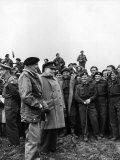 English PM Winston Churchill and British Army General Bernard Montgomery Premium Photographic Print by George Rodger