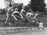 Cheerleaders Training under Bill Horan, American Cheerleaders Assn, Florence Alabama State College Photographic Print by Lynn Pelham