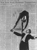 Nicholas Darvas Illustrating Successful Career on Stock Market in Dance with Half Sister Julia Premium Photographic Print by Walter Sanders