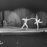Margot Fonteyn and Rudolf Nureyev Performing at Pres. Lyndon B. Johnson's Inaugural Gala Premium Photographic Print by Francis Miller
