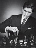 American Chess Champion Robert J. Fisher Playing a Match Premium Photographic Print by Carl Mydans