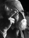 Philosopher Martin Buber, an Advocate of Arab Jewish Rapprochement Premium Photographic Print by Paul Schutzer