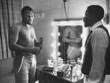 Boxer Joe Frazier Dressing During Training for a Fight Against Muhammad Ali Premium Photographic Print by John Shearer