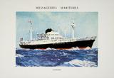 Mess Maritimes - Caledonien Impressão colecionável por Albert Brenet
