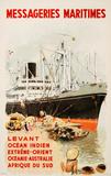 Mess Maritimes - Levant Fren Sammlerdrucke von Albert Brenet