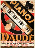 Pianos Daude - Reissue Impressão colecionável por Andre Daude
