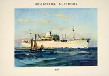 Messagerie Maritimes - Laos Impressão colecionável por  Chapelet