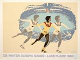 Lake Placid 1980 Figure Skater Impressão colecionável por  Wheeler