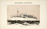 Mess Maritimes - Marechal Joffre Impressão colecionável por Albert Brenet