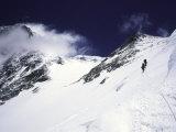 Mountaineering on Mt. Everest Southside Fotografie-Druck von Michael Brown