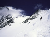 Mountaineering on Mt. Everest Southside Lámina fotográfica por Michael Brown