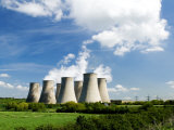 Ratcliffe on Soar Power Station, England Fotografisk tryk af Martin Page