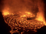 Nyiragongo Volcano, Democratic Republic of the Congo Fotografisk tryk af Mary Plage