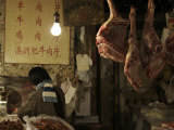 A Chineese Butcher Photographic Print by Ryan Ross