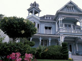 Edwards Victorian Mansion, Redlands, California, USA Fotoprint van Nik Wheeler