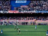 Football Match at Stadio San Paolo, Naples, Italy Fotografisk trykk av Jean-Bernard Carillet