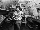 Cat Stevens Composer and Singer Cooking in the Kitchen, February 1967 Photographic Print