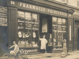 The Exterior of a Chemist's Shop Most Probably in Paris Photographic Print