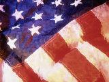 Det amerikanske flagget Fotografisk trykk av Ellen Kamp