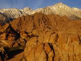 Alabama Hills Looking Towards Sierras, Owens Valley, California, USA Photographic Print by Stephen Saks