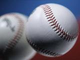 Close-up of Two Baseballs Photographic Print