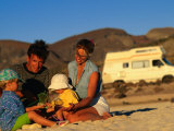 Family Playing on Beach, Cabo San Lucas, Mexico Photographic Print by Philip & Karen Smith