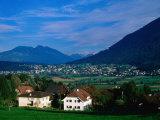 Mauren Village and Austrian Mountains, Schellenberg, Liechtenstein Photographic Print by Martin Moos