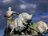 Gefion Fountain, Copenhagen, Denmark Reproduction photographique par Anders Blomqvist