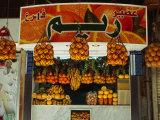 Fruit Juice Stand, Damascus, Syria Fotografie-Druck von Wayne Walton