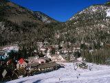 Resort Centre and Main Base of Taos Ski Valley, Taos, New Mexico, USA Fotografisk trykk av Karl Lehmann