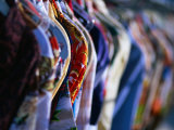 Second Hand Shirts for Sale from Shop on Melrose Avenue, Los Angeles, California, USA Photographic Print by Ray Laskowitz