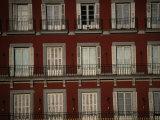 Balconies Overlooking Plaza Mayor, Madrid, Spain Fotografie-Druck von Damien Simonis