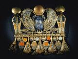 Gold and Semiprecious Stone Pendant from Tutankhamuns Tomb Photographic Print by Kenneth Garrett