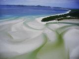 Sandbars Create an Interesting Pattern Along the Shoreline Fotografisk tryk af Paul Chesley