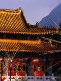 Po Lin Monastery, Lantau Island, Hong Kong, China Photographic Print by Lawrence Worcester